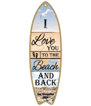 I love you to the Beach and back - rock beach