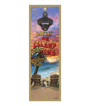 Island Time - 5x15 bottle opener - Micha