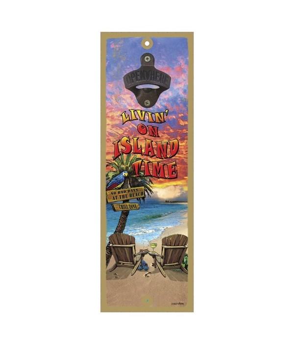 Island Time - 5x15 bottle opener - Micha