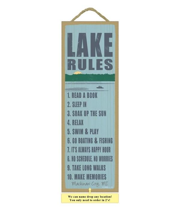 Lake rules (lake image)
