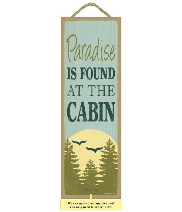 Paradise is found at the cabin (tree, bi