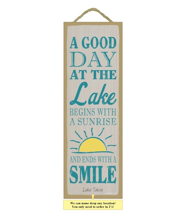 A good day at the lake begins with a sunrise and ends with a smile (sun image)