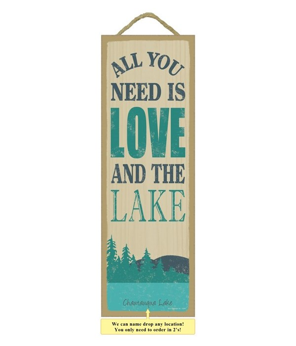 All you need is love and the lake (mountain & lake image)