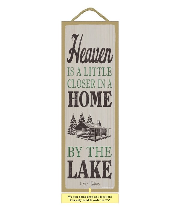 Heaven is a little closer in a home by the lake (cabin image)