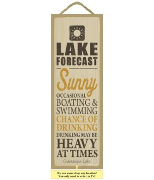 Lake forecast (sun image) 5 x 15 Sign