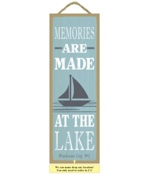 Memories are made at the lake (sailboat
