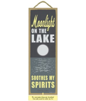 Moonlight on the lake soothes my spirits