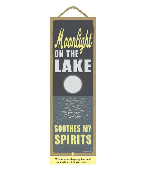 Moonlight on the lake soothes my spirits (moonlight on lake image)