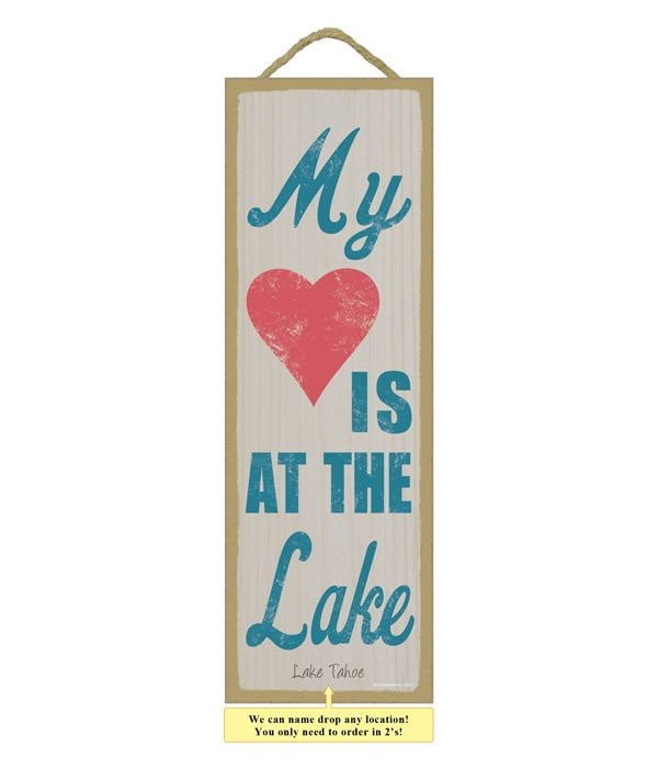 My (heart image) is at the lake