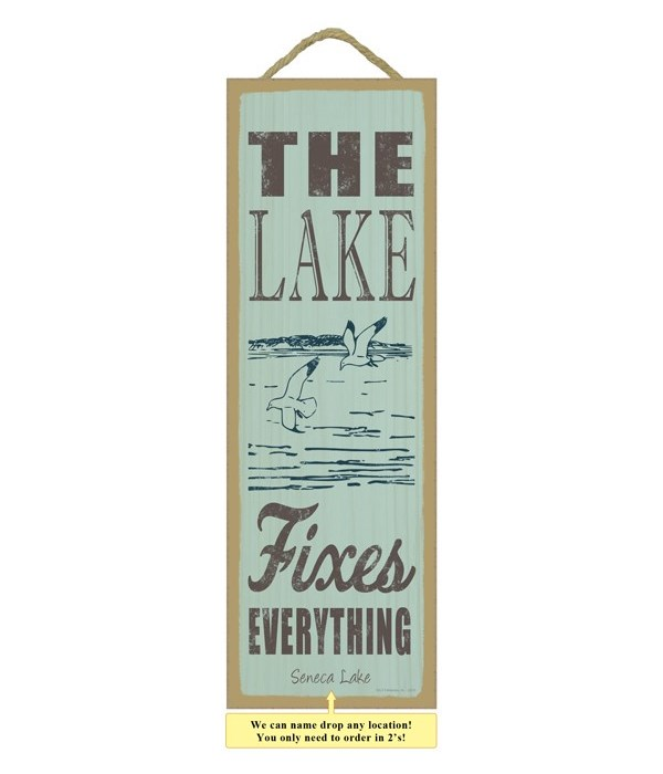 The lake fixes everything (lake & seagulls image)