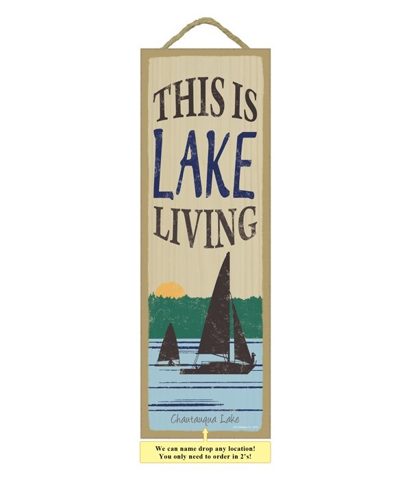 This is lake living (sailboat image)