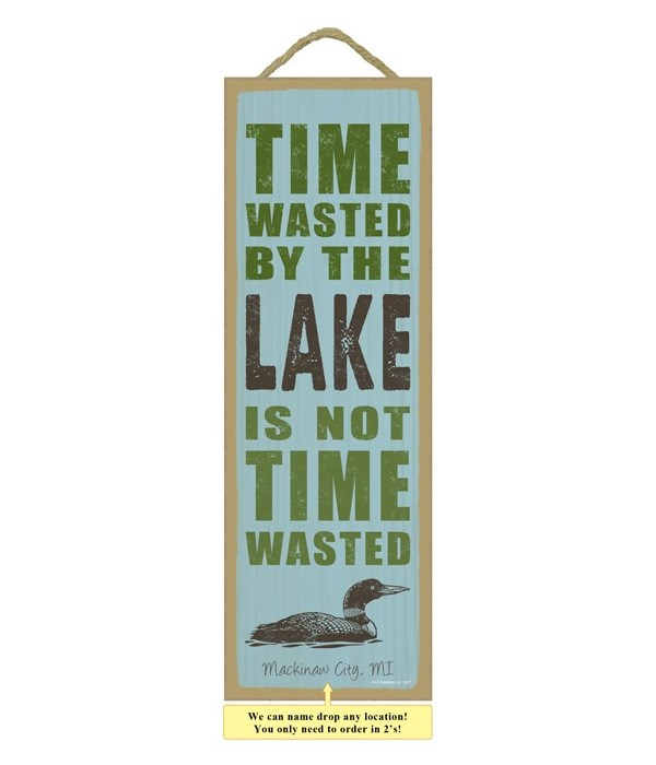 Time wasted by the lake is not wasted time (duck image)