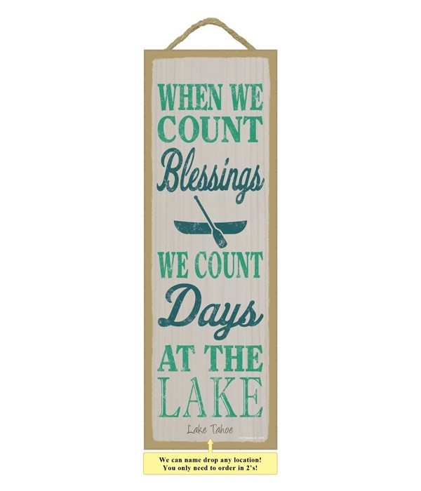 When we count blessings, we count days at the lake (boat image)