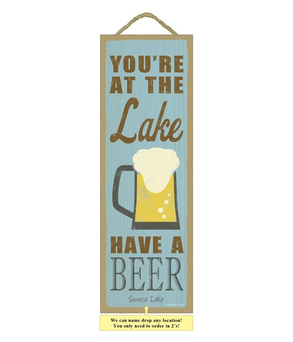 You're at the lake.  Have a beer. (beer image)