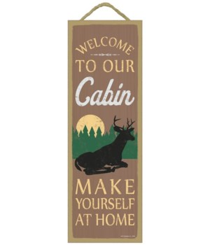 Welcome to our cabin. Make yourself at h