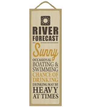 River forecast (sun image) 5 x 15 Sign