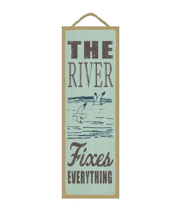 The river fixes everything (river & seagulls image)