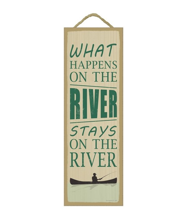 What happens on the river stays on the river (boat & fishing image)