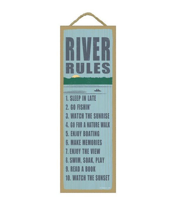 River rules (river image)