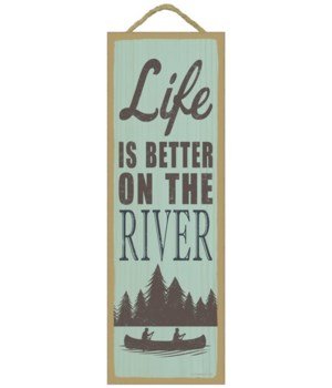 Life is better on the river (tree & boat