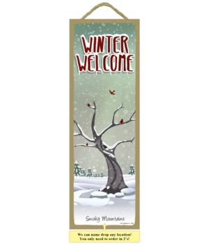 Winter Welcome  5 x 15""