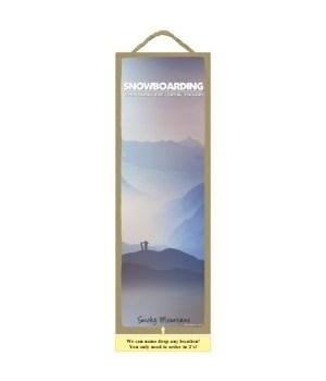 Snowboarding when regular 5x15 plaque