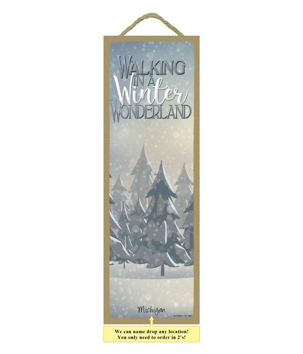 Walking in Winter Wonderland 5x15 plaque