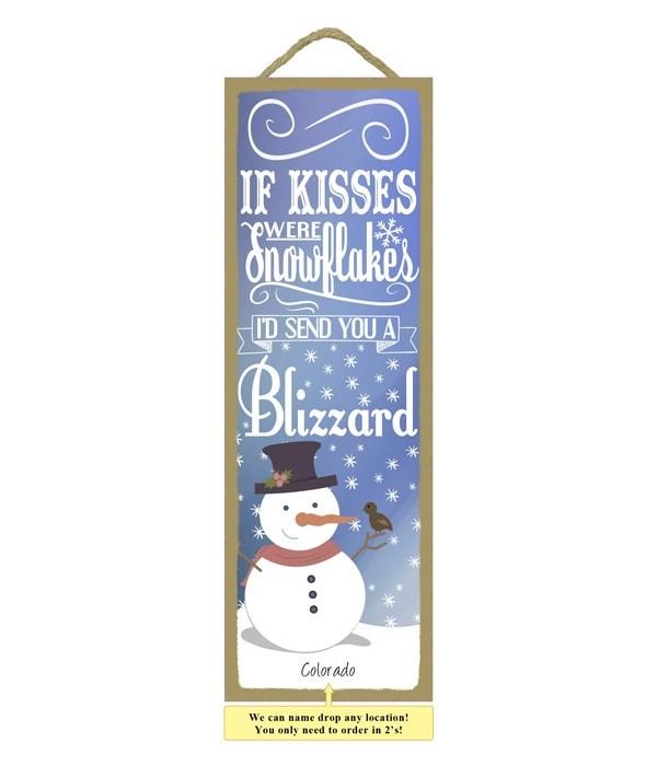 Snowflakes / Blizzard 5x15 plaque