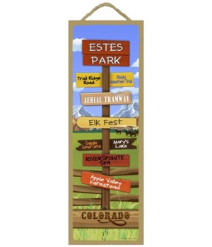 Midwest Mountains Theme Destination Sign