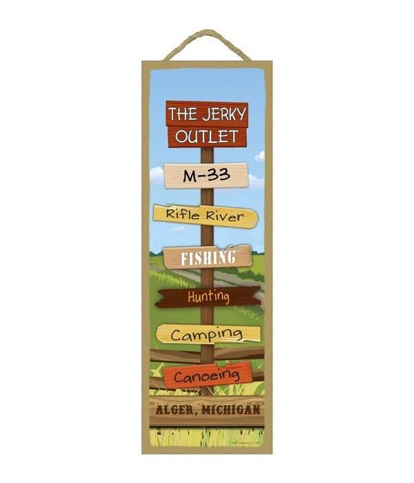 Jerky Outlet Destination Sign