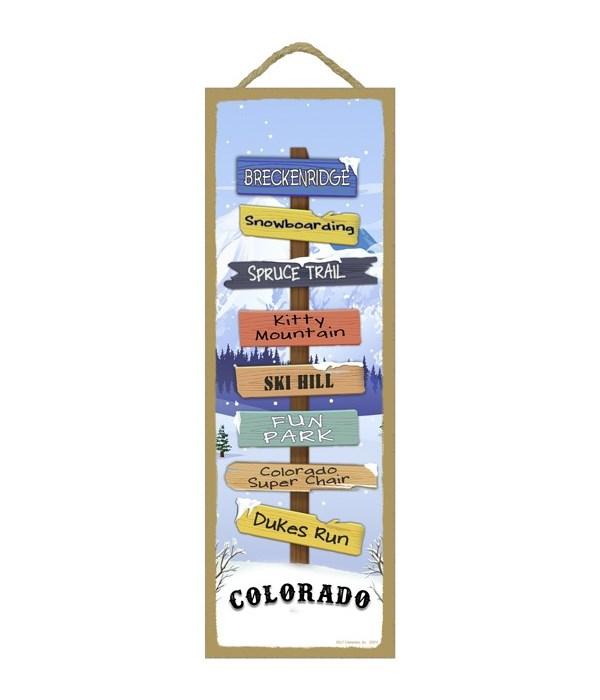 Snow Mountains Theme Destination Sign