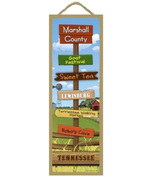 Farm/Country Scene Destination Sign