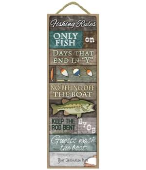 Fishing Rules: Large fish w/ rustic wood