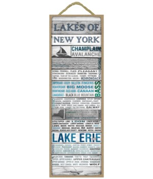 Lakes of New York Sign