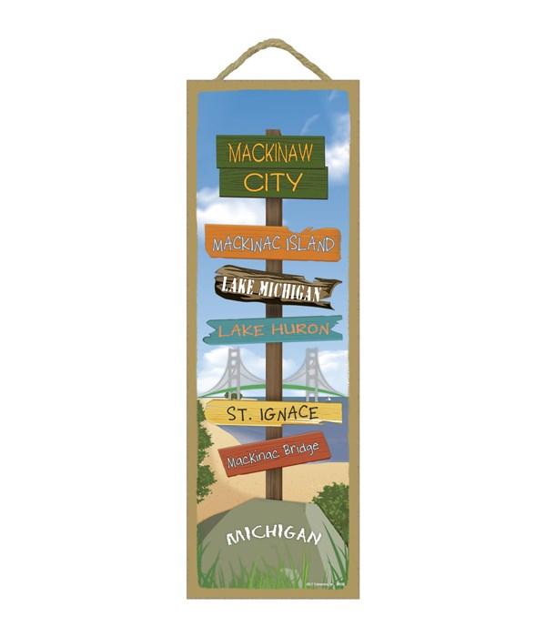 Mackinaw City Destination Sign