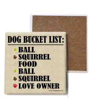 Dog Bucket List: Ball, Squirrel, Food, B
