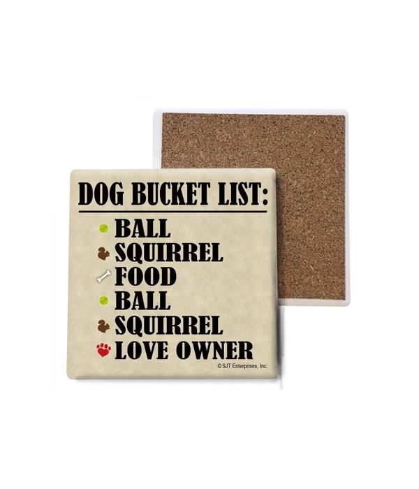 Dog Bucket List: Ball, Squirrel, Food, B