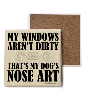 My windows aren't dirty, That's my dog's