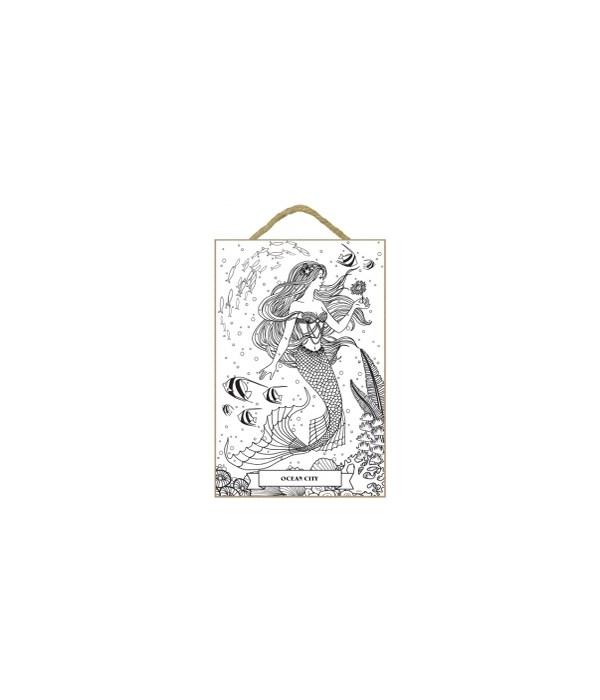 Mermaid, fish and coral (no wording)