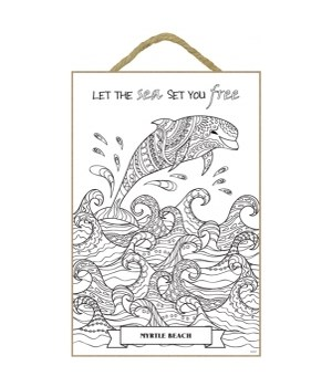 Let the sea set you free, 1 dolphin jumping waves