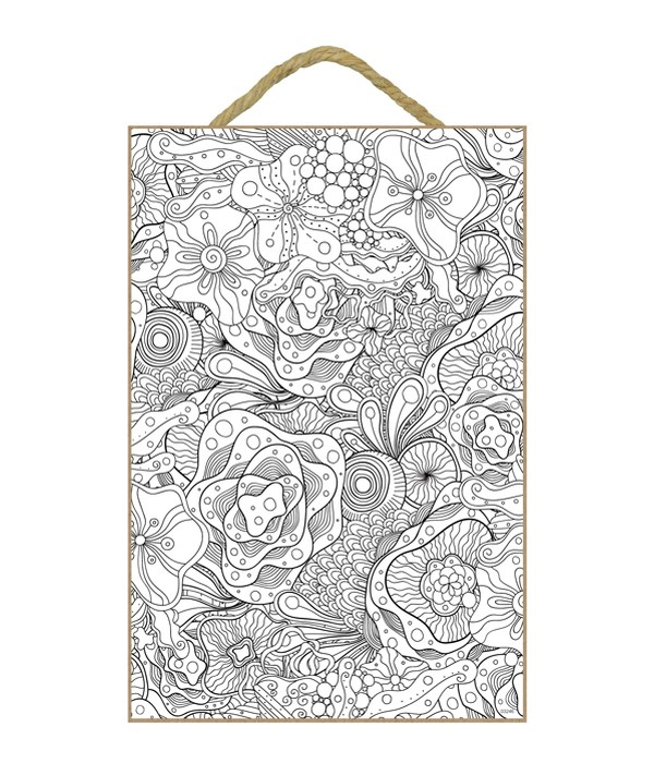 Abstract amoeba coral flower design