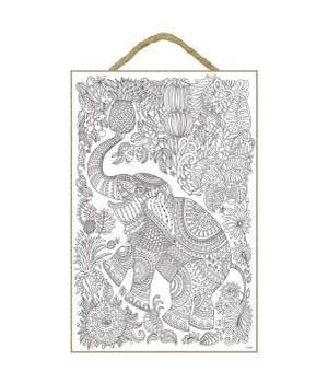 Elephant (whole body) with pineapple - India design