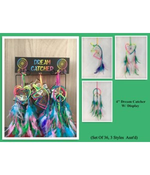 "Dreamcatcher tie die 4"" 36pc unit 3A"