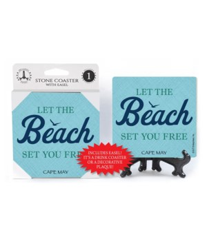 Let the beach set you free  coaster 1-pa
