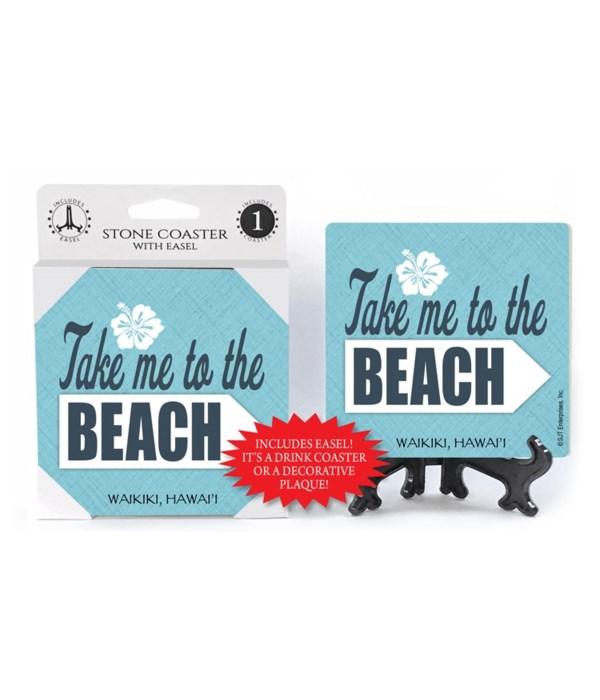 Take me to the beach  coaster 1-pack