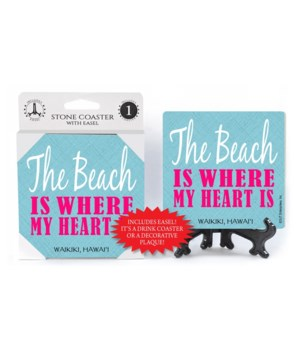 The beach is where my heart is - Pink wr