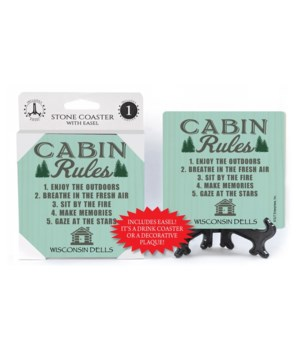 Cabin Rules (cabin & tree image)  coaste