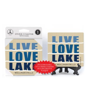 Live. Love. Lake.   coaster 1-pack