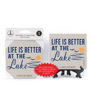 Life is better at the lake coaster 1pk