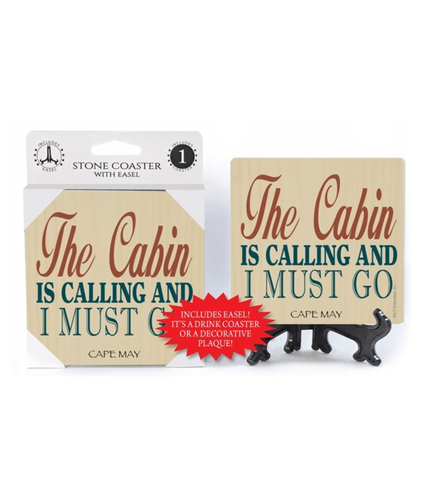 The cabin is calling must go coaster 1pk